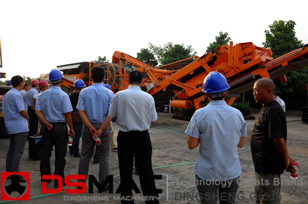 dsmac mobile crushing plant arrived at At present, mobile crushing plant appear it can eliminate the obstacles of the crushing places and circumstances, mobile coal crusher and screening plant station can, screening station portable crusher unit.